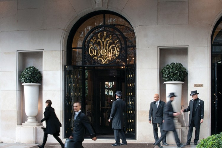 The Four Seasons Paris George V entrance