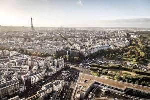 Panoramic view over Paris
