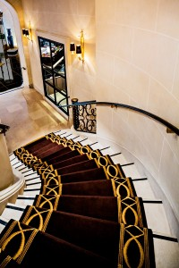 Prince de Galles Paris hotel stairs