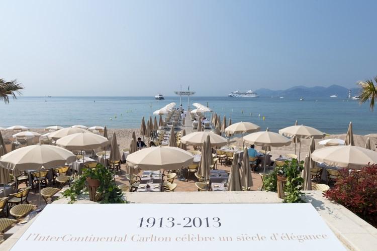 Carlton Cannes - La plage privée