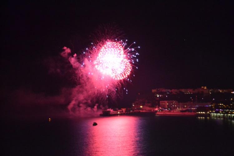 New year fireworks in Monaco