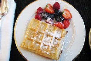 Delicious homemade waffle