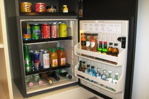 The well furnished minibar