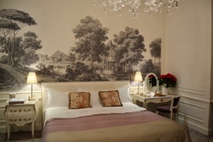 Bedroom with mural painting