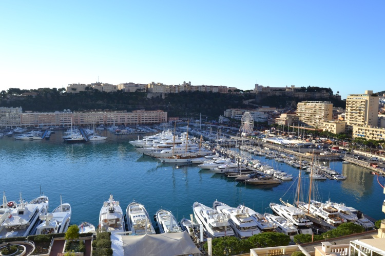 The view over Monaco harbor from the Junior Suite