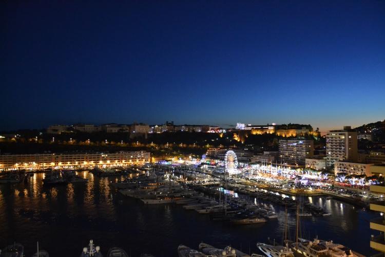 Night view over Monaco