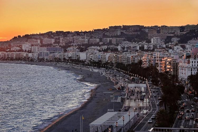Le Méridien Nice - Coucher de soleil depuis la terrasse sur le toit