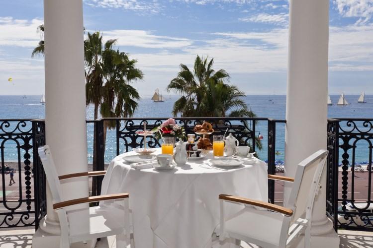 Le Negresco Nice - Petit déjeuner avec vue sur la mer