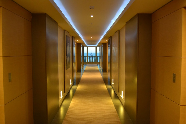 Corridor to the suites