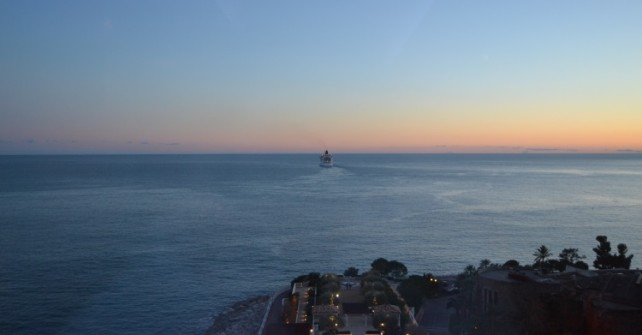 Panoramic view over the Mediterranean sea