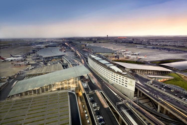 L'hôtel Sheraton Aéroport de Paris - vue aérienne