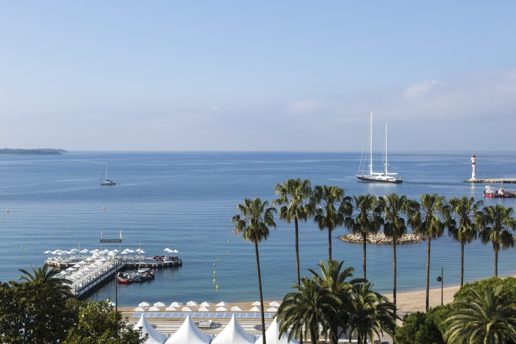 View over the sea from Majestic Cannes