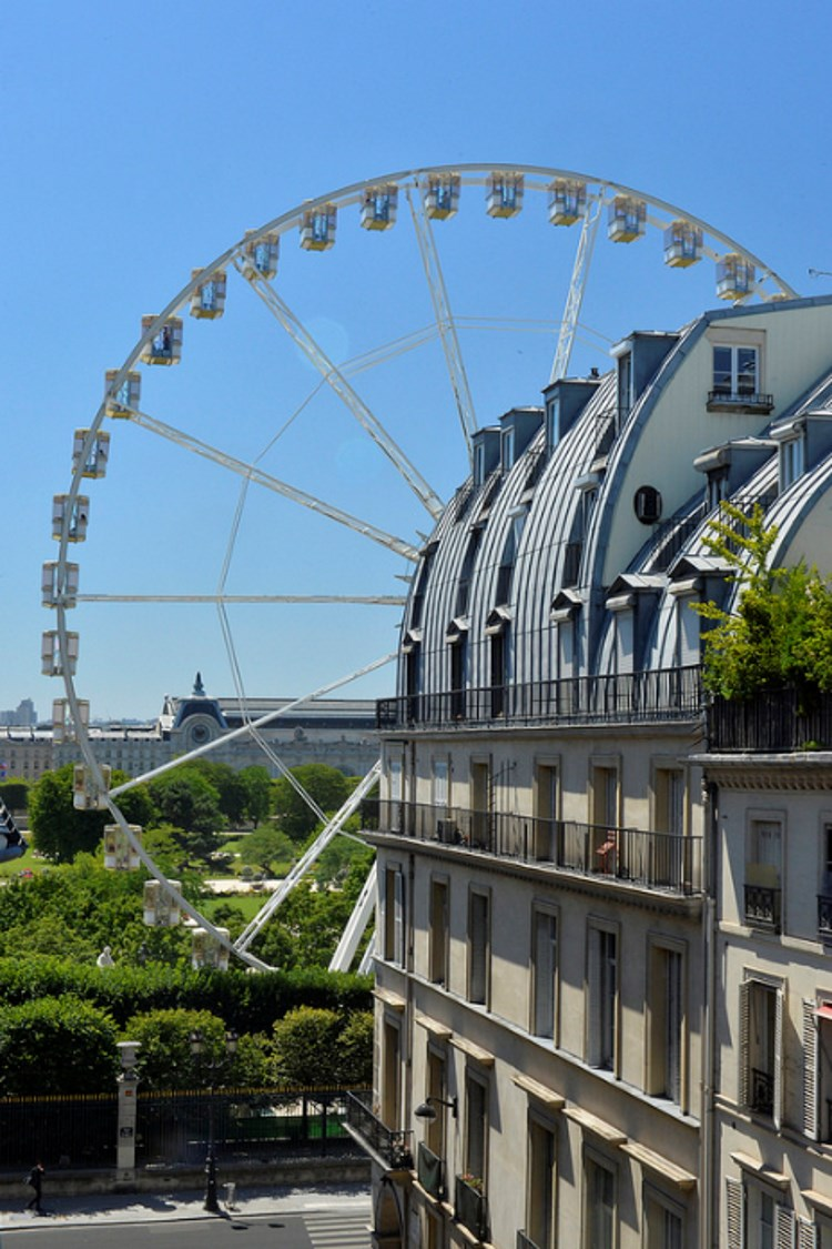 View over the Tuileries garden