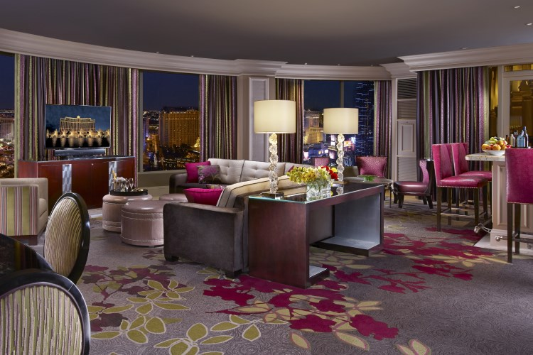 Bellagio Las Vegas - Grand Lakeview Suite living room