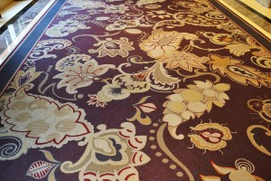 Carpet in the Bellagio corridors