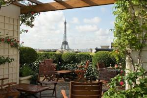 Hotel Raphael Paris Terrasse vue Tour Eiffel