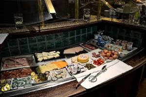 Salted breakfast buffet