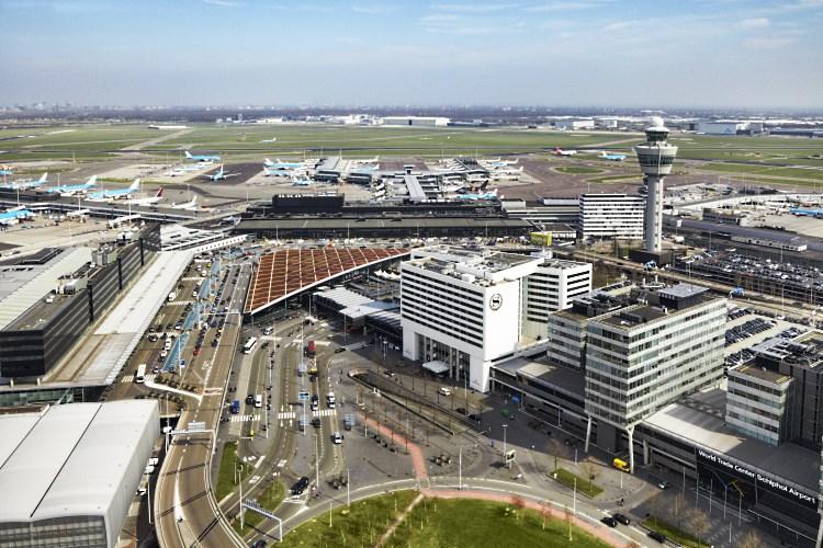 Sheraton Aéroport d'Amsterdam - Vue du ciel