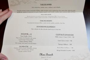 Le menu du Brunch au Buddha-Bar Hotel