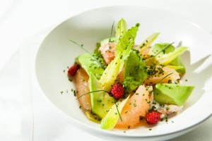 Crab salad with pink grapefruit
