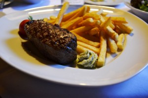 Meat with fries