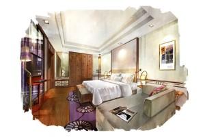 Chambre de la suite du Sofitel Sentosa