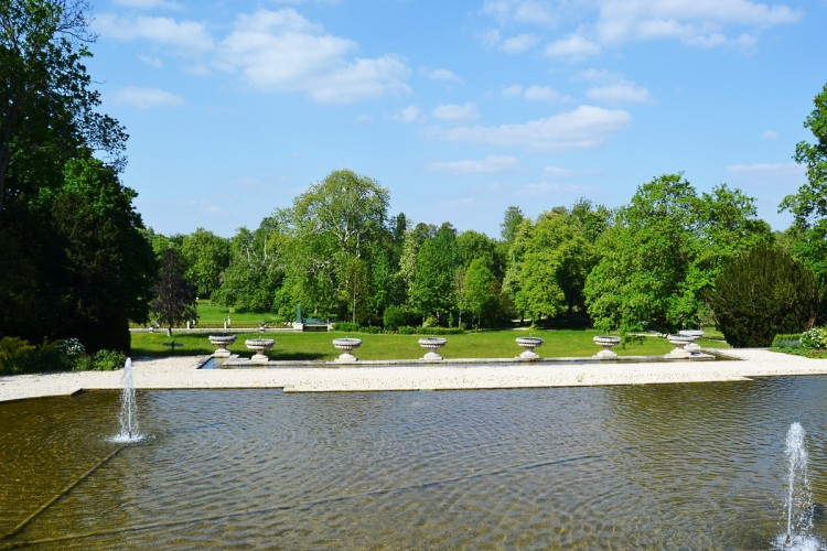 View on the Chantilly Castle Gardens
