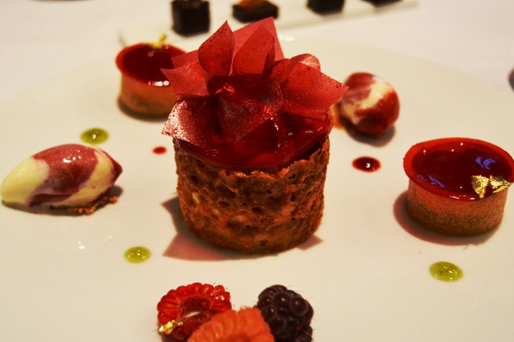 The Raspberry dessert