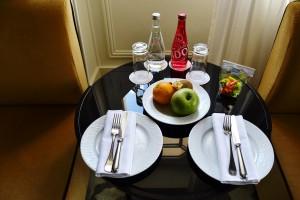 La table d'acceuil