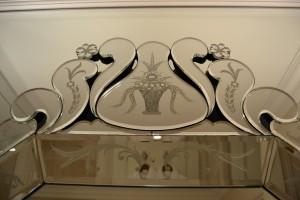 Détails du miroir Vénitien