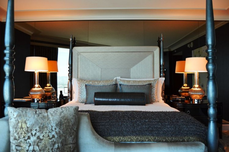 Four Seasons Las Vegas Sunset Sunrise Suite bedroom