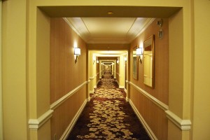 Corridor to the suite