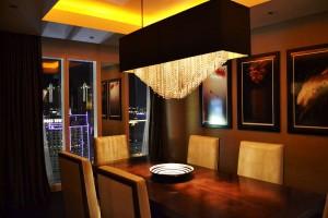 Mandarin Oriental Las Vegas Dynasty Suite dining room