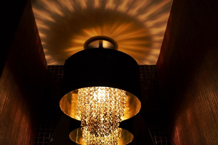 Guests powder room light