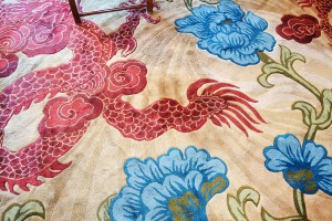 The beautiful Asian carpet