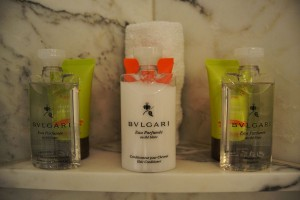 Bulgari and Shanghai Tang amenities