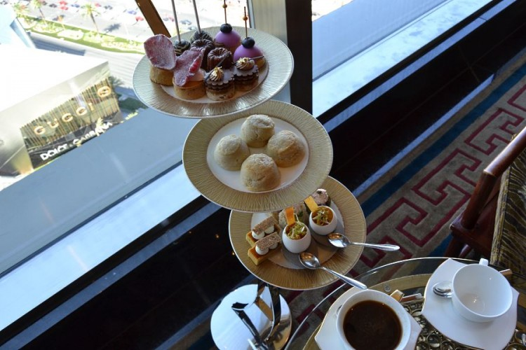 The tea time at Mandarin Oriental Las Vegas