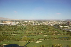 The view over the Wynn golf
