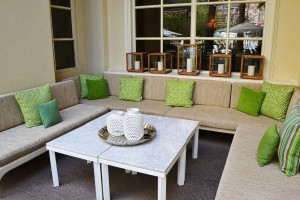 Cosy area at the terrace