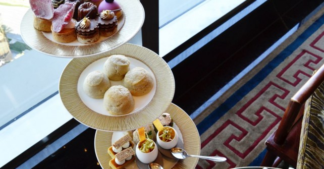 Tea time at Mandarin Oriental Las Vegas