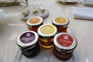 Branded jam jars