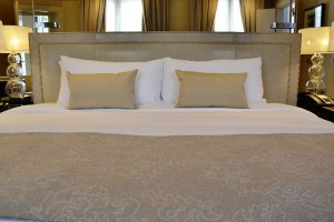 The large king bed