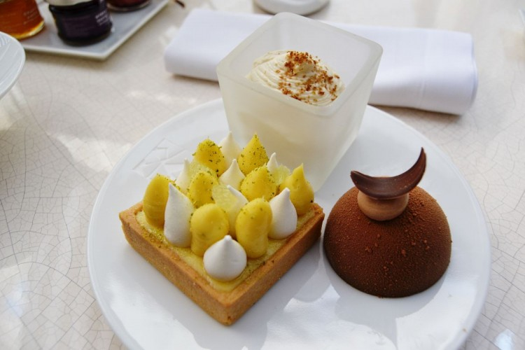 Pastries prepared by Yann Couvreur