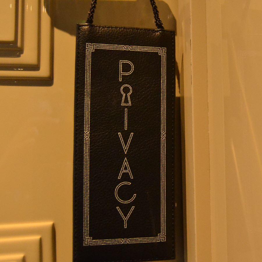 Prince de Galles Suite Room door