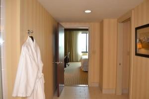 The bathroom entrance
