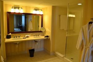 The bathroom shower side