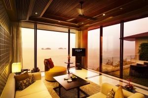 Salon de Villa Oceanview 2 chambres