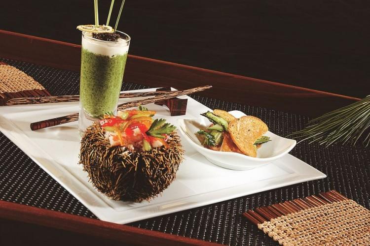 Exotic cuisine ar the Indigo