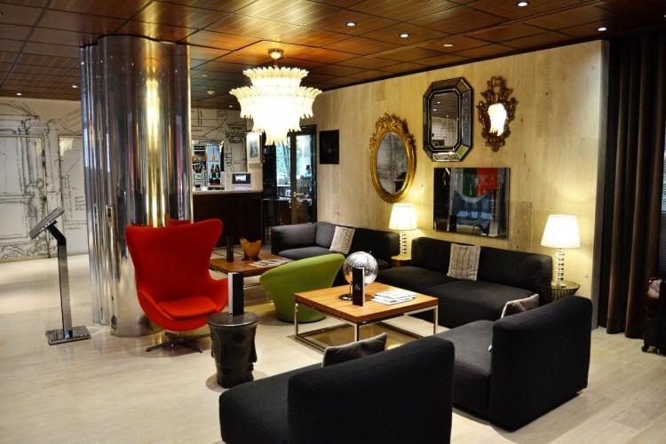 Le lobby de l'Intercontinental Paris Avenue Marceau