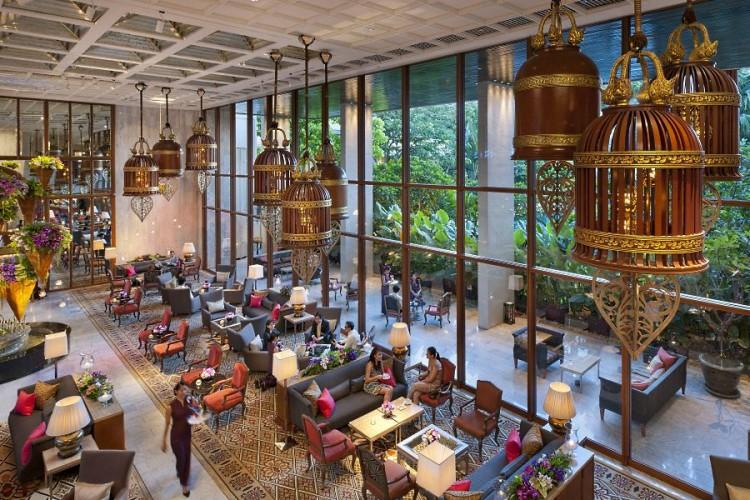 The Mandarin Oriental Bangkok lobby
